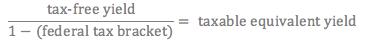 tax-free bond equation